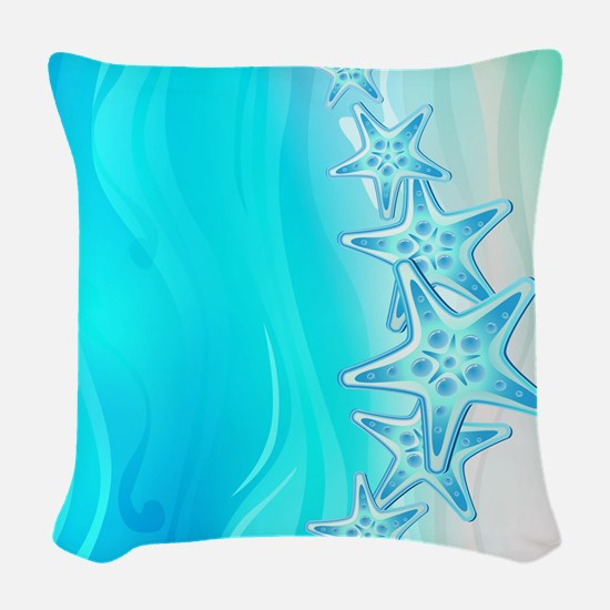 Starfish Woven Throw Pillow