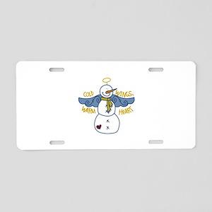 Warm Heart Angel Aluminum License Plate