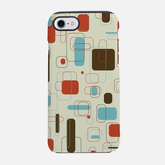 Colorful Modern Geometric Abst iPhone 7 Tough Case