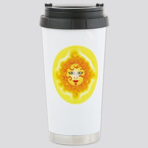 Abstract Sun Stainless Steel Travel Mug