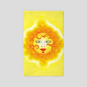 Abstract Sun 3'x5' Area Rug