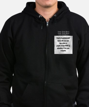 Photo Placeholder 10 x 8 and Logo Zip Hoodie