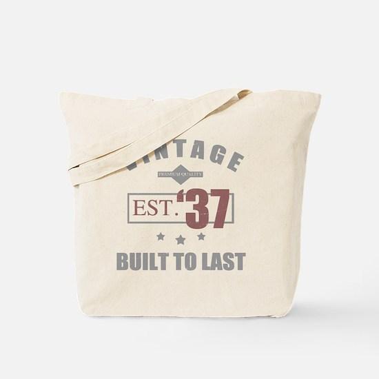 Cute Men 80th birthday Tote Bag