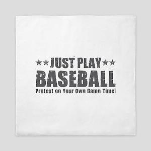 Just Play Baseball Queen Duvet
