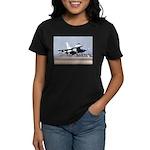 F-16 taking off Women's Dark T-Shirt