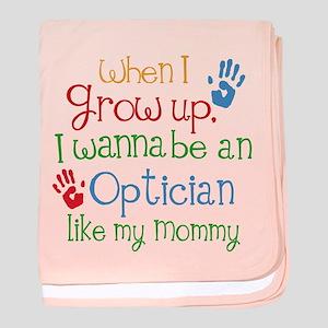 Optician Like Mommy baby blanket
