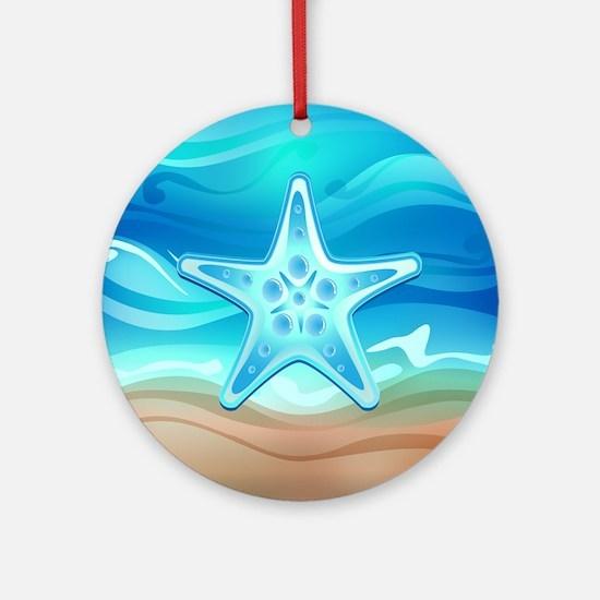 Starfish 2 Ornament (Round)