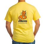 Feline Network Logo - Yellow T-Shirt