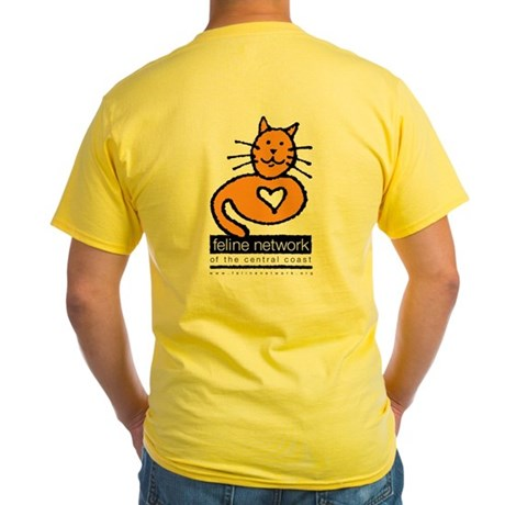 Feline Network Logo - Yellow T-Shirt