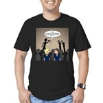 Pack Meetings Men's Fitted T-Shirt (dark)