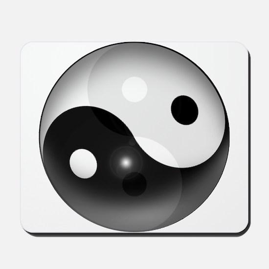Yin Yang in 3D Mousepad