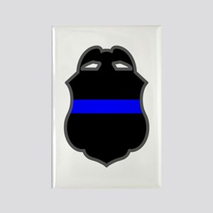 Blue Line Badge 3 Rectangle Magnet