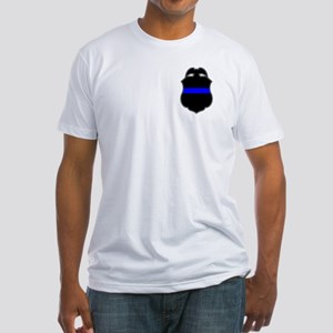 Blue Line Badge 3 Fitted T-Shirt
