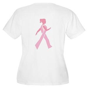 Breast Cancer Walks Women's Plus Size Scoop Neck T
