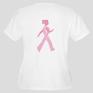 Breast Cancer Walks Women's Plus Size V-Neck T-Shi