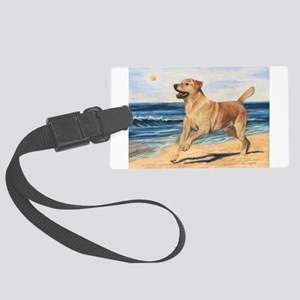 Lab on Beach Luggage Tag