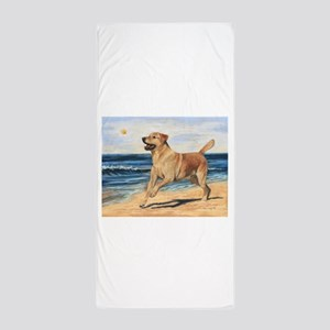 Lab on Beach Beach Towel