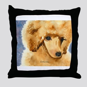 Red Poodle Stuff Throw Pillow