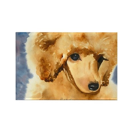 Red Poodle Stuff Rectangle Magnet (10 pack)