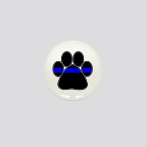 Blue Line K9 Paw Mini Button