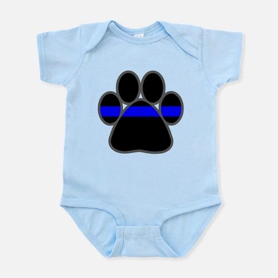 Blue Line K9 Paw Infant Bodysuit