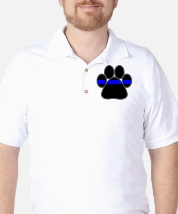 Blue Line K9 Paw Golf Shirt