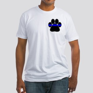 Blue Line K9 Paw Fitted T-Shirt