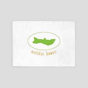 Molokai,Hawaii 5'x7'Area Rug