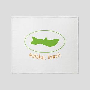 Molokai,Hawaii Throw Blanket