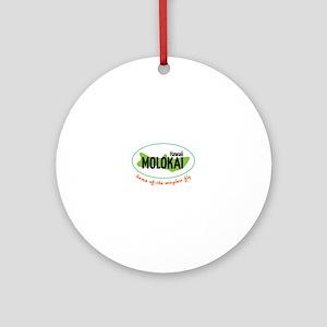 Hawaii Molokai home of the wingless fly Ornament (