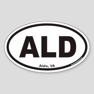 Aldie Virginia ALD Euro Oval Sticker