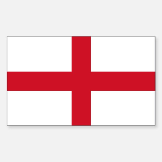 England Flag Sticker (Rectangle)