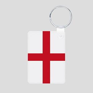 England Flag Aluminum Photo Keychain