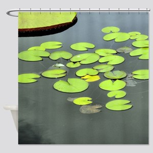 Lily Pads On Water Shower Curtain