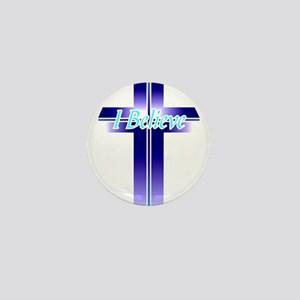 I Believe Cross Mini Button