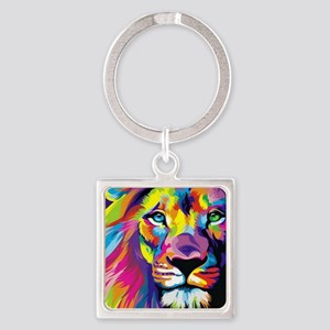 Leo the trippy lion Square Keychain
