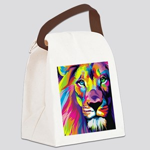 Leo the trippy lion Canvas Lunch Bag