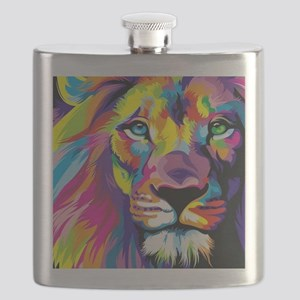 Leo the trippy lion Flask