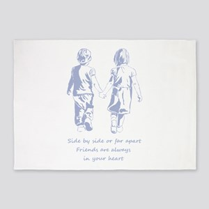 Friends Always in Your Heart Friendship Quote 5'x7