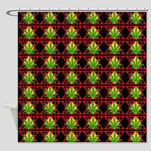 Marijuana Pattern Art Shower Curtain
