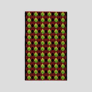 Marijuana Pattern Art 3'x5' Area Rug