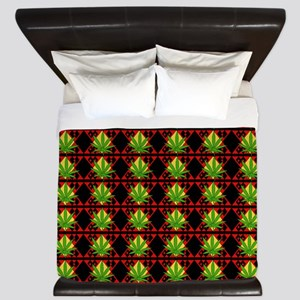 Marijuana Pattern Art King Duvet