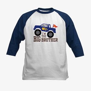I'm The Big Brother Monster Truc Kids Baseball Tee