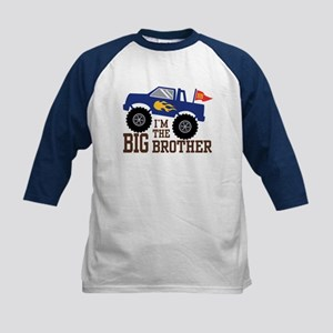 I'm The Big Brother Monster Truc Kids Baseball Tee