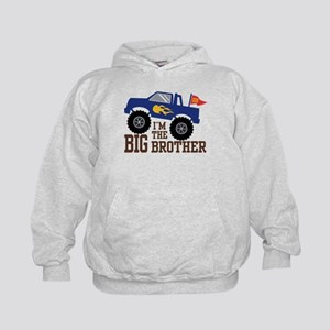 I'm The Big Brother Monster Truck Kids Hoodie