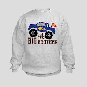 I'm The Big Brother Monster Truck Kids Sweatshirt