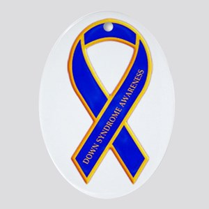 Down Syndrome Awareness Oval Ornament