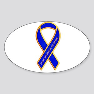 Down Syndrome Awareness Oval Sticker