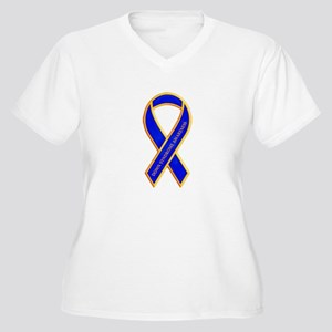 Down Syndrome Awareness Women's Plus Size V-Neck T