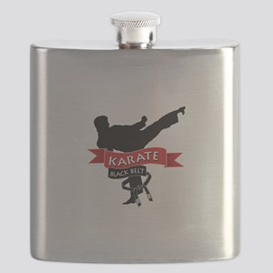Karate Black Belt Flask